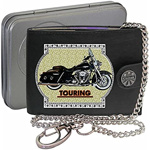 HARLEY DAVIDSON TOURING Klassek Uomo Portafoglio con catena motocicletta accessorio Moto