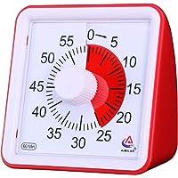 Aimar  timer visivo da 60 minuti  timer silenzioso  strumento di gestione del tempo per la scuola o le riunioni  orologio conto alla rovescia per bambini e adulti Red