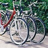 Freistehender Fahrradständer für 3 Fahrräder, feuerverzinkt, erweiterbar