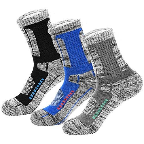 VBIGER 3 pares Hombres Calcetines De Algodón Calientes Invierno Calcetines Deportivos para Correr Escalar Eaminar y Trekking