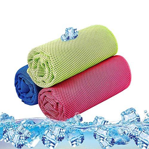 Kühltuch Kühlhandtuch Set Sofortige Relief Eiskalt Kühlen Handtuch Atmungsaktives Mesh Schweißsaugfähig Für Fitness Gym Golf Yoga Laufen Sports Übung Sommer Heißes Wetter 36 x 12 inch