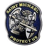 Tattico San Michele proteggici Militare moderno con Fissaggio Chiusura a uncino e asola Ricamata Toppa
