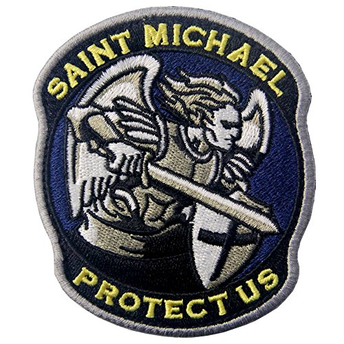 St Kostüm Jungen Michael - Heiliger Michael Beschütze uns Modernes Militär Moral Taktisch Flicken Bestickter Aufnäher mit Klettverschluss