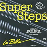 Labella SS45 Super Steps Série Jeu de Cordes pour Guitare Basse 45/105 Medium
