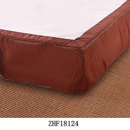 hxxkact Wrap-Around Bed, Rock Elastische Staub Easy Fit Falten und lichtbeständige Volltonfarbe Hotel Qualität Stoff 11 Zoll Fallen Queen-King Vollständige Stifte Twin-F 200x220cm(79x87inch)