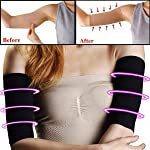 1 Pair Elastic Compression Arm Sleeves, MOGOI Weight Loss Calories Slimming Improve Shaper Sleeve Protective Upper Arms...