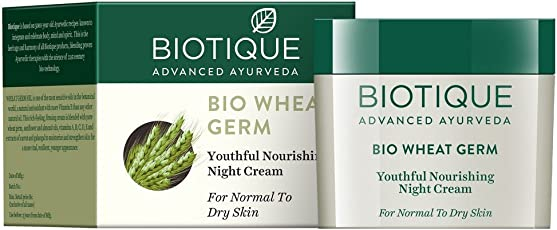 Biotique Bio Wheat Germ FIRMING FACE and BODY NIGHT CREAM For Normal To Dry Skin, 50G
