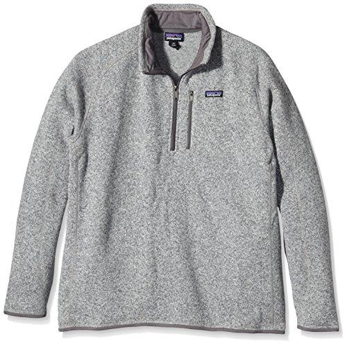 Patagonia Herren Jacke Better Sweater 1/4 Zip Fleece Fleecepullover, Stonewash, L Fleece Running Sweatshirt