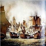 LHDLily Moderne 3D-Hintergrund Wandmalereien Pirat Große Wallpaper Wandbild Schiff 150cmX100cm