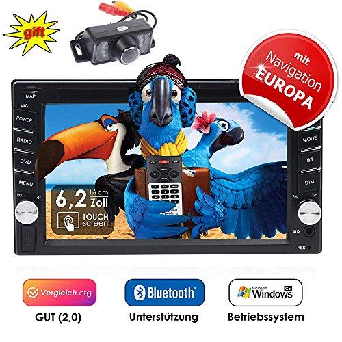 Erfordert Hd-dvd-player (2DIN Autoradio CRE V-336DG mit GPS Navigation (Europa), Bluetooth, Touchscreen, DVD-Player und USB/SD-Funktion)