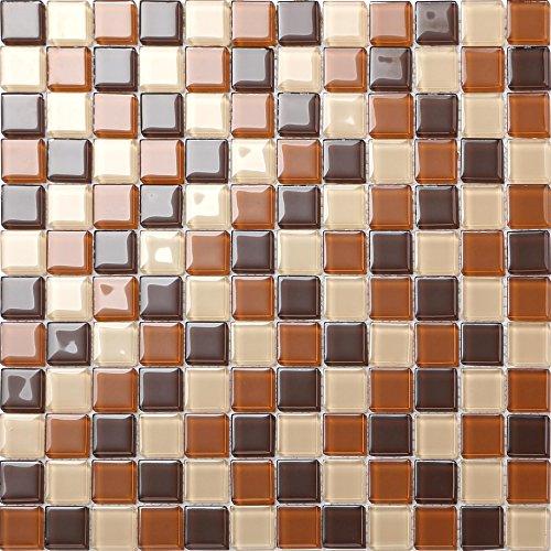 Glas Mosaik Fliesen Matte in Braun (MT0082)
