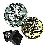 Mesky Lucifer Pentecostal Coin Moneta Satan Collezione Argento in Lega di Zinco Collection Cosplay Accessorio Film Costume Prop Regalo per Unisex Diametro 3.8CM