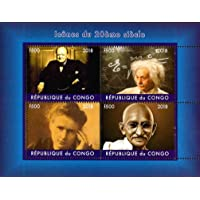 STAMPEX - Congo 2018 Mahatma Gandhi, Einstein, Churchill, Marie Curie Famous People 4v Mint Miniature Sheet Thematic…