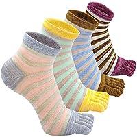 Calcetines de Deportes de Algodón Transpirable de 5 Dedos para Mujer, Calcetines con Cinco dedos