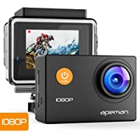 APEMAN Action Cam A66, Full HD 1080P con Custodia Impermeabile Subacqueo Action Sport Camera 170°Grandangolare e Kit…