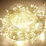 Indoor Fairy Lights with 300 Warm White LEDs on 30M of Clear Cable by Noza Tec for Christmas Xmas Wedding Party Home Decoration Fairy Lights Wedding Party Home Garden Decorations