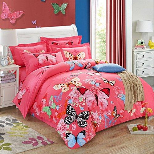 Preisvergleich Produktbild MSAJ-100 Baumwolle Bettwsche Bettbezug Bettbezug setzt 622 St¨¹ck Blatt Kissen Shams voll Queen