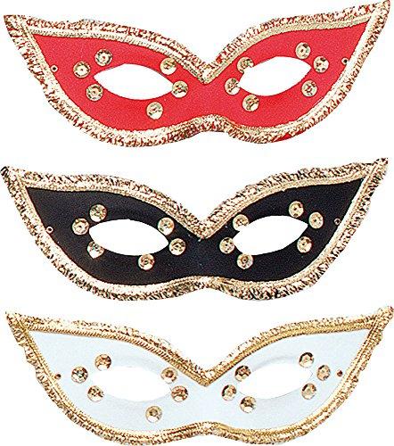 Damen Karneval Kostüm Zubehör Maskerade Fest Domino Maske verschiedene