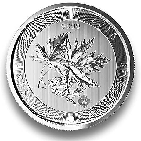 Maple Leaf 1.5oz Silbermünze - Jahrgang 2017 - einzeln in Münzkapsel verpackt