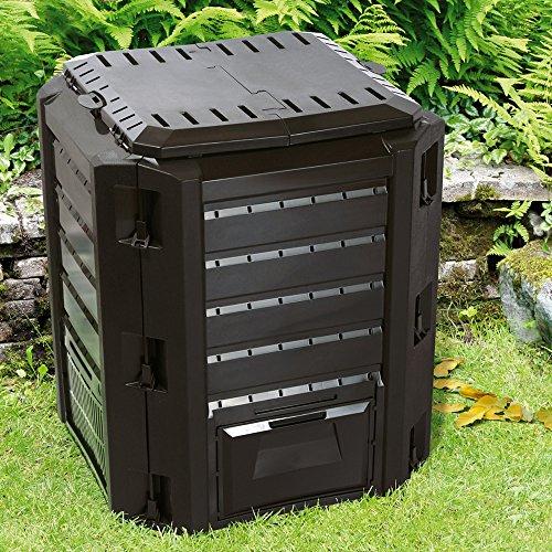 Composteur pour jardin déchets pelouse température élevée pour humus 380L