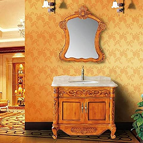 Modylee Continental gomma legno bagno al piano mobiletto del bagno formula armadietto su ordinazione , cabinet size 1000*600*820mm mirror size 900*1050mm