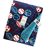 Baby Bucket Double Layer Velvet Fleece Newborn Printed Baby Blanket (VEL 76X102 JUSTU BAL)
