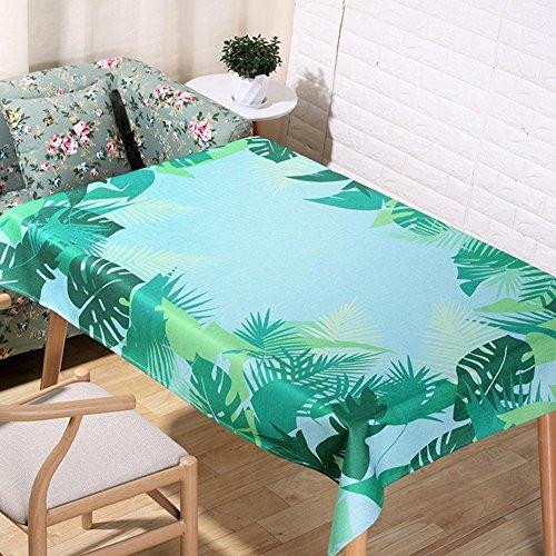 Nordic pastorale dessin animé nappes naturelles lin 3D impression numérique de table tissu décoration tissu de couverture serviette , 140*140cm
