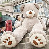 VERCART Groß Teddybär Spielzeug Kuscheltier Gigantischer Puppe Weiches Plüsch als Geschenk Geburtstagsgeschenk zur Dekoration Erwachsene Kinder Grau 340CM