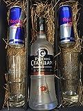Russian Standard Vodka Set/Geschenkset -Russian Standard Vodka 0,7l 700ml (40% Vol) + 2x Gläser + 2x Red Bull 250ml - Inkl. Pfand EINWEG