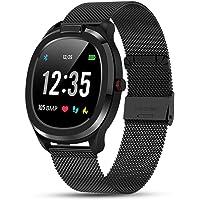 Masskko Smartwatch Fitness Armband Sportuhr Smart Watch mit Temperatur Pulsschlag Blutdruck Blutsauerstoff PPG + EKG für…