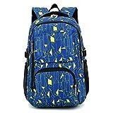 Cadeaux Rentrée Scolaire Backpack Sac à Dos Grande Volume Scolaire Enfant Garcon Cartable à Dos Ecole Sac PC Loisir Voyage Cartable Lycee College 49 * 32 * 18cm...