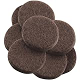 7/8\ inch, 8 PC : SoftTouch Self-Stick Furniture Felt Pads for Hard Surfaces (8 Piece) - Brown, Round, 7/8-Inch
