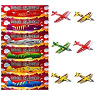 New Style Dino Pack of 12 Dinosaur Flying Glider Planes Kids Gift Party Loot Bag Stocking Fillers Fun
