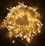 #3: Rice String Lights Warm White Color 10m for Decorative purposes 10m to 100m Fairy LEDs with 8 pattern operation for Diwali, Christmas, Birthday, DIY, Party