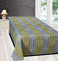 Yazlyn Collection Floral Design Pure Cotton Single Bedsheet