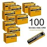 100 Pile DURACELL INDUSTRIAL Mini Stilo AAA LR03 Batterie Alcaline Alta Capacità