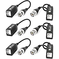 SEAHAVEN CCTV Passive Video Balun Transmitter & Transceiver with Cable for 1080P TVI/CVI/TVI/AHD/960H DVR Camera CCTV System, No Power Required (6)