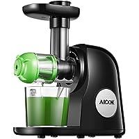 Extracteur de Jus, 2 filtres, Aicok Slow Juicer Presse à Froid Machine avec Moteur Silencieux, Sans BPA, Fonction…