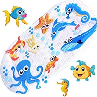 Anlass Kids Cartoon Non Slip Mats Mildew Resistant Non Slip Mats for Children Octopus