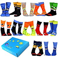 TeeHee Special (Holiday) 12-Pairs Socks with Gift Box. (9-11, Fun Halloween-A)