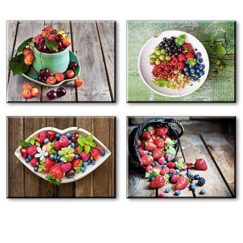 Piy Painting 4X Impresión Lona Fruta Fresca Cuadro