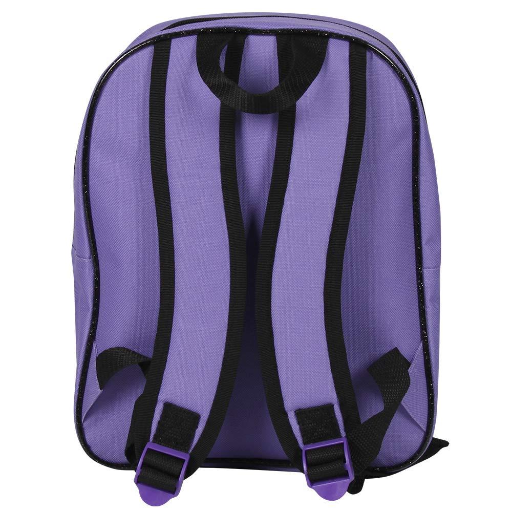 61uY63tMU4L - Descendants 13734 - Pequeña mochila de niña con gran compartimiento de la serie animada Disney Descendientes, morado