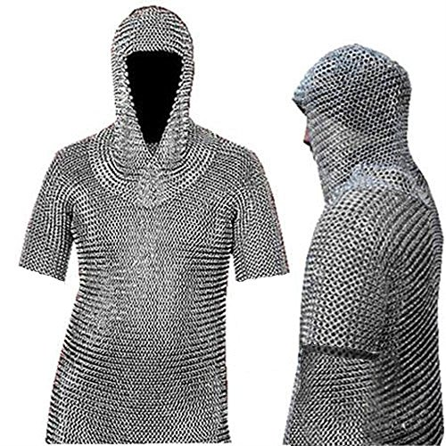 NASIR ALI MS BUTTED Chainmail Shirt Female Chain Mail Armor Haubergeon-Medieval Armour