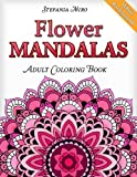 Flower Mandalas Adult Coloring Book: White Background
