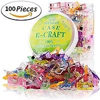 CaseECraft Lot de 100pinces Prodige polyvalentes - Accessoires pour la couture, le patchwork, le crochet, les travaux manuels et le tricot - Assortiment de couleurs