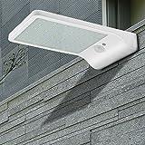 Garden Mile Packung zu 2 modern weiß Solarlampen Garten Beleuchtung Straßenbeleuchtung m Stange 36 LED Wandlichter Bewegungsmelder Außen Heimsicherheit wasserfest für Balkon Veranda Einfahrt Zaun