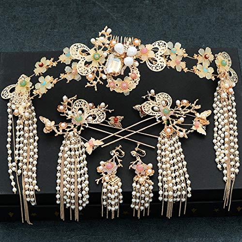 Lnyy Braut, Kopfschmuck, alte kostüm, Haarschmuck, chinesischen Stil, Zeigen Kleidung, Phoenix Krone, - Alten Chinesischen Kostüm