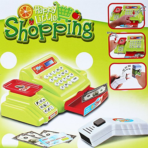 Spielzeugkasse Spielkasse Kasse Kaufladen Scanner Waage Spielgeld