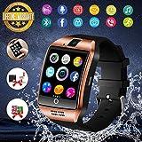 Montre Connectée, Bluetooth Montre Smartwatch Sports Smart Watch Con Carte Caméra SIM de Soutien et Carte de TF Pédomètre Sommeil Calories pour Samsung Huawei Sony Android pour Homme Femme