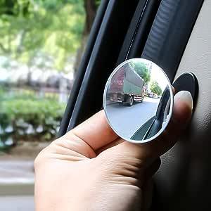 Souarts Toter Winkel Spiegel Runde Verstellbare Selbstklebende Konvexe Fürs Auto 360 Weitwinkel Souarts Küche Haushalt